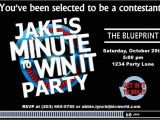 Minute to Win It Birthday Party Invitations Minute to Win It Party Supplies Printables and
