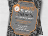 Minute to Win It Birthday Party Invitations Minute to Win It Printable or Printed Birthday Invitations