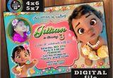 Moana Birthday Invitations Walmart Baby Moana Birthday Invitation Custom Digital File Any Age