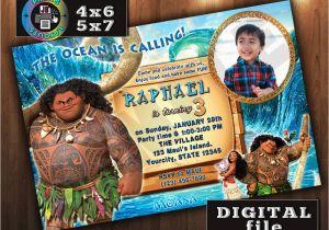 Moana Birthday Invitations Walmart Maui On Disney Invitation Custom Digital File