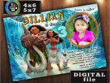 Moana Birthday Invitations Walmart Moana Birthday Invitation Custom Digital File Any Age with