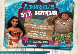 Moana Birthday Invitations Walmart Invitation Party Disney