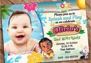 Moana Birthday Invitations Walmart On Sale Off Invitation Pool Party Printable