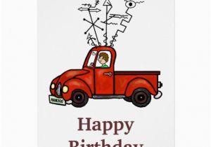 Mobile Birthday Cards Downloads Ham Radio Mobile Rig Truck Birthday Card Zazzle