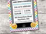Mobile Birthday Invitations Emoji Cell Phone Trending Birthday Party Invitation