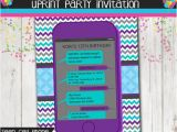 Mobile Birthday Invitations Teen Birthday Party Invitation Cell Phone Texting Invitation