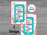 Mobile Birthday Invitations Tween Teen Cell Phone Birthday Invitation by Jsdaydesigns