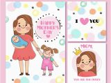 Moma Birthday Cards Cute Mother 39 S Day Greeting Cards In Hand Drawn Style