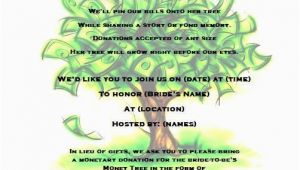 Money Tree Invitation Wording Birthday Money Tree Bridal Shower Invitation by Partychickie On