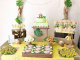 Monkey 1st Birthday Decorations Monkey 1st Birthday Party A to Zebra Celebrations