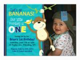 Monkey 1st Birthday Invitations 40th Birthday Ideas Monkey Birthday Invitation Templates Free