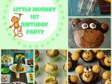 Monkey Birthday Decorations 1st Birthday the Noatbook Little Monkey 1st Birthday Party