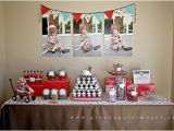 Monkey Decorations for Birthday Kara 39 S Party Ideas Red Aqua sock Monkey Party Kara 39 S
