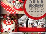 Monkey First Birthday Decorations A sock Monkey themed 1st Birthday Party Spaceships and