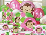 Monkey First Birthday Decorations Mod Monkey Party Decorations Girl Birthday Party Ideas