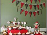 Monkey First Birthday Decorations Sylas 39 S Diy 39 sock Monkey 39 1st Birthday Party Project Nursery