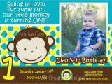 Monkey Invitations for 1st Birthday Mod Monkey Invite Mod Monkey Invitation Photo 1st Birthday