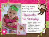 Monkey Invitations for 1st Birthday Monkey Birthday Invitations First Birthday Photo Invitation