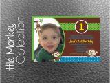 Monkey themed Birthday Invitations Items Similar to Little Monkey themed 1st Birthday Party