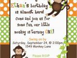 Monkey themed Birthday Party Invitations Best 25 Monkey Invitations Ideas On Pinterest Monkey