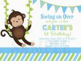 Monkey themed Birthday Party Invitations Birthday Invitations Monkey 1st Party Invites Birthday