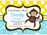 Monkey themed Birthday Party Invitations Free Monkey Birthday Invitations Bagvania Free Printable
