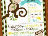Monkey themed Birthday Party Invitations Free Printable Baby Shower Monkey Invitations theme