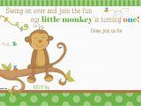 Monkey themed Birthday Party Invitations Free Printable Little Monkey Birthday Invitation Template