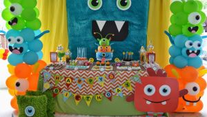 Monster Decorations for Birthday Party Partylicious events Pr Little Monster Birthday Bash