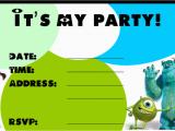 Monster Inc Birthday Invitations Monster Birthday Invitations Ideas Bagvania Free