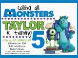Monster Inc Birthday Invitations Monsters Inc Birthday Party Invitation by Lifeonpurpose On