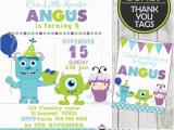 Monster Inc Birthday Invitations Monsters Inc Birthday Party Invitation Card Boys