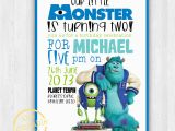 Monster Inc Birthday Invitations Monsters Inc Invitation Only Modern Contemporary Kids