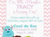 Monster Inc Birthday Invitations Personalized Monsters Inc Inspired Girls Birthday Invitation