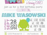 Monster Inc Birthday Invitations Printable Monsters Inspired 1st Birthday Birthday