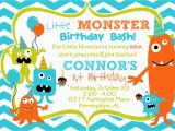 Monster themed Birthday Invitations Cupcake Monster Bash Birthday Party by Burleygirldesigns