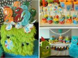 Monster themed Birthday Party Decorations Kara 39 S Party Ideas Monster Bash Party Cute Ideas