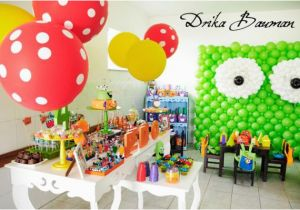Monster Themed Birthday Party Decorations Kara 39 S Ideas Boy Girl 4th