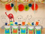Monster themed Birthday Party Decorations Little Monster Birthday Party Guest Feature