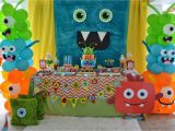 Monster themed Birthday Party Decorations Partylicious events Pr Little Monster Birthday Bash