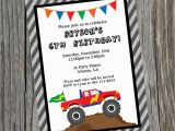 Monster themed Birthday Party Invitations Custom Printable Monster Truck Birthday Party Invitation