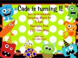Monster themed Birthday Party Invitations Little Monster Birthday Invitation Monster Birthday Party