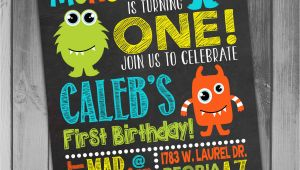 Monster themed Birthday Party Invitations Monster Birthday Invitation Little Monster Invitation Monster