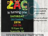 Monster themed Birthday Party Invitations Monster Lettering themed Birthday Invitation Printable