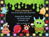 Monster themed Birthday Party Invitations Monster themed Birthday Invitations Best Party Ideas
