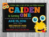 Monster themed Birthday Party Invitations Monster themed Birthday Party Invitation Printable