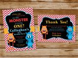 Monster themed Birthday Party Invitations Monster themed Birthday Party Invitations Printing by