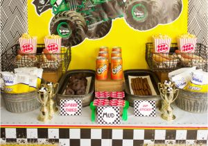 Monster Truck Birthday Decorations Monster Truck Birthday Party Ideas Moms Munchkins