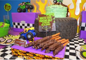 Monster Truck Birthday Decorations Nestling Monster Truck Party Reveal
