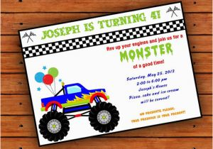 Monster Truck Birthday Invitations Free Printable 8 Best Images Of Monster Truck Template Printable
